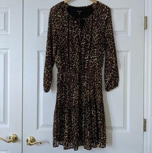Melissa Paige Leopard Print Dress